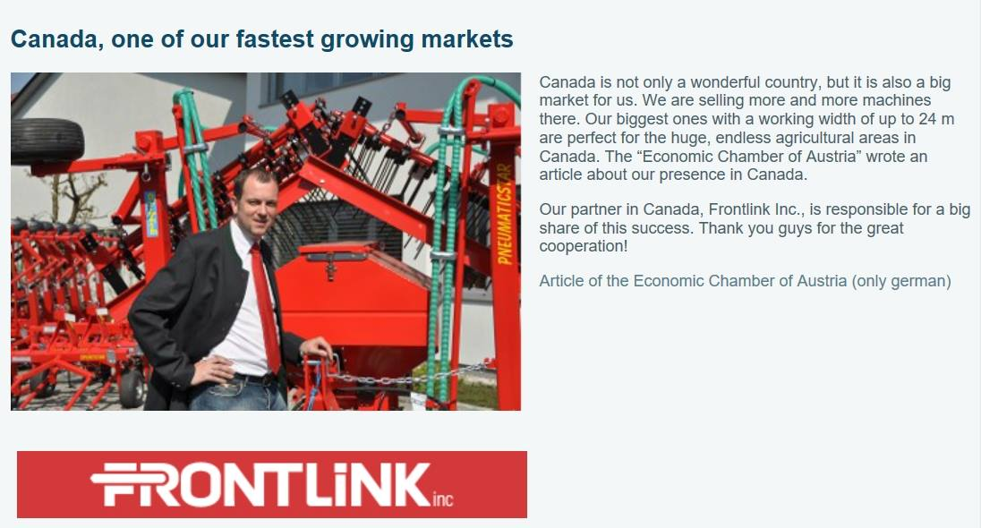 Canada, one of our Fastest Growing Markets